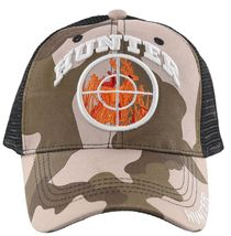 NEW! HUNTING DEER IN SCOPE OUTDOOR SPORTS BACK MESH BALL CAP HAT BROWN CAMO - $21.99
