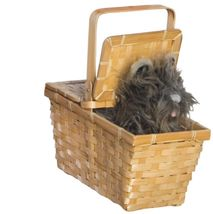 "Wizard of Oz ""Toto in a Basket"" Deluxe Plush Costume Accessory in Woven Wood - $12.89"
