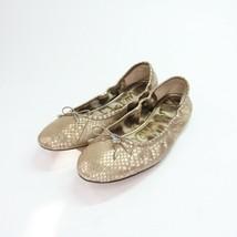 Sam Edelman Champagne Sequins Slip On Ballet Flats Womens Size 9.5M - $39.59