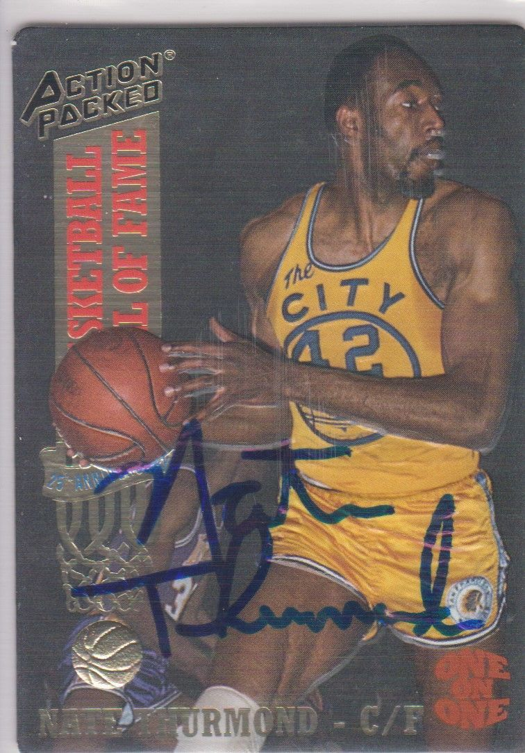 Nate Thurmond Signed Autographed 1993 Action Packed Basketball Card - Golden Sta