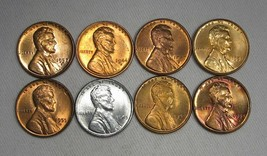Lot of 8 Lincoln Wheat Cent Uncirculated Coins AG156 - $47.34