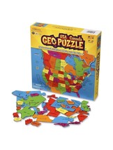 USA and Canada Geography Puzzle - 69 State Shaped Pieces - $34.65