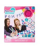 Pom Pom Wow! - Snap & Decorate Set New - $6.88