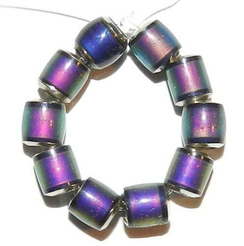 Primary image for Color Changing Sensitive Sparkle Mood Beads 6mm Barrel 10pc