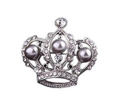 2 Pieces Of Creative Brooch Diamond Imperial Crown Brooch Clothes Accessories