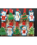 200pcs Wooden Pegs,Photo Wooden Clips,Christmas Tree Drop Pendant Ornaments - $26.00