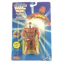 Ahmed Johnson WWF WWE JusToys Bend Em Figure 1996 Series 3 Sealed  - $7.87