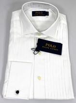 Ralph Lauren Polo Tuxedo Shirt Mens 15 38 French Cuff Cotton White New - $130.50