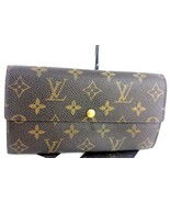 Auth LOUIS VUITTON monogram Canvas leather bifold Long Wallet Purse Fran... - $197.01