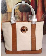 NWT Michael Kors Fulton Canvas Small Tote Ecru ... - $119.99