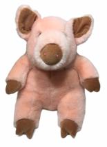 """Manhattan Toy RARE Peach Pig Plush Pink 13"""" Boar Piggy Stuffed Animal Cu... - $125.00"""