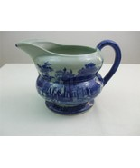 Vintage 1980's Large Pitcher Jug Blue Willow Style Victoria Ware Juice W... - $39.55