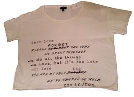 MNG by MANGO New Size: XS XSmall Oversized Short Sleeve Cropped T-Shirt ... - $29.99