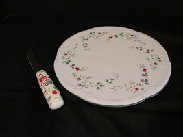Pfaltzgraff Winterberry Scallop Cheese Appetizer Plate Knife Set - $9.99