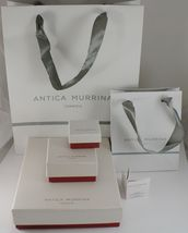 ANTICA MURRINA VENEZIA NECKLACE WITH MURANO GLASS BLACK BEIGE WHITE COA07A02 image 7