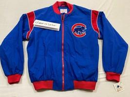 M142 Rare GIII G3 Chicago Cubs Full Zip Blue Jacket MEN'S L Large - $247.45