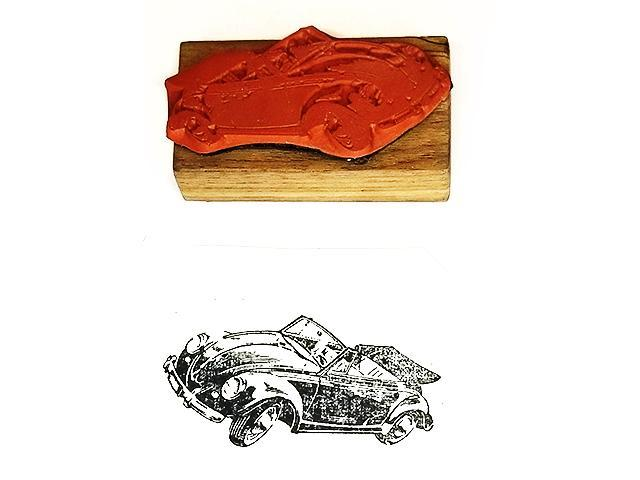 Collector Car Rubber Stamps VW Bug Rubber Stamp