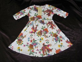 My Blankee Toddler Girls Dress White/Red/Blue/Yellow Paisley Floral 3 3t... - $24.74