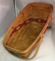 Longaberger 1991 Yuletide Traditions Basket w/ Red Weave - $26.41
