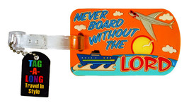 Religious Quote Airline Travel Luggage Tag Cruise Ship Silicone Rubber B... - $11.98