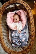Winter Baby Blanket Transformer Baby Girl Minky Sack Newborn Gift Baby Shower St - $49.90