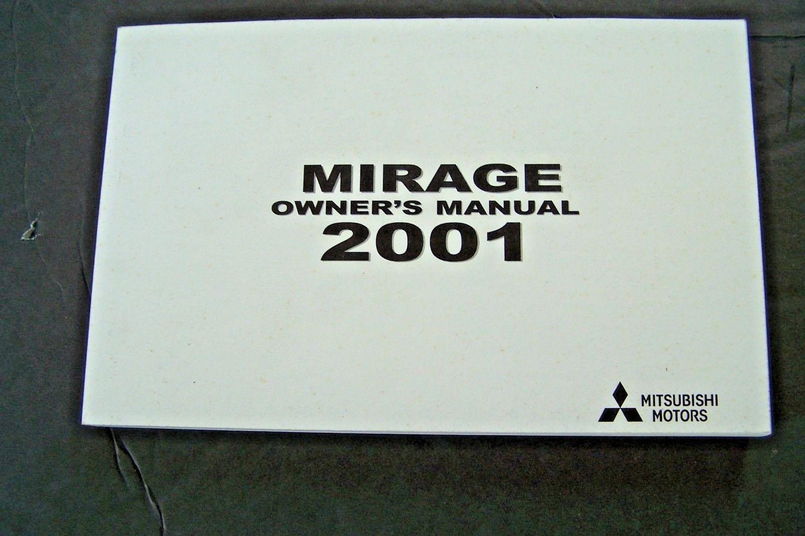 2001 Mitsubishi Mirage  Owner's Manual new factory reprint