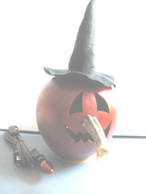 Gourd Witch Light Lamp Halloween Large JOL face Meadowbrooke Gourds Hand... - $41.53