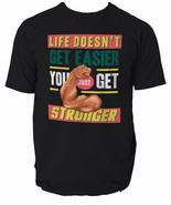 Get stronger t shirt retro game console gym motivation flex  S-3XL - $12.55+