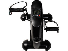 Exerciser Cycling Fitness Mini Pedal Exercise Bike Indoor 4 Legs w/ LCD ... - $60.98