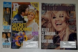 2 Kelly Clarkson People Magazine Entertainment Weekly 1481 Lot Wedding A... - $12.82