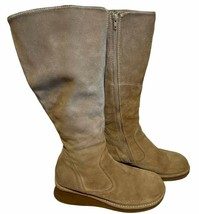Women's American Eagle Leather Winter Boots size 10 Tan / Brown Riding Boots - $14.01