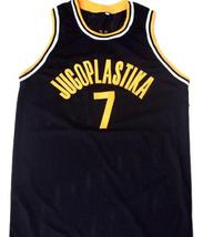 Toni Kucok #7 Jugoplastika Yugoslavia Men Basketball Jersey Black Any Size image 1