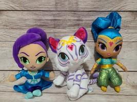 Nickelodeon Shimmer Shine Plush Dolls Tiger Nahal Zeta Sorceress Blue Pu... - $19.39