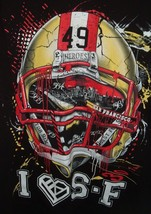 Vtg San Francisco 49ers NFL 49 Heroes I Heart SF Pro Tag USA Tee SZ L - $29.69