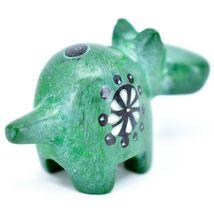 Tabaka Chigware Hand Carved Kisii Soapstone Green Hippopotamus Hippo Mini Figure image 3