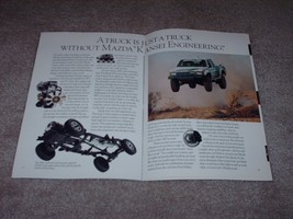 """1990 Mazda Truck Sales Brochure 18 Pages B2200 B2600 12"""" X 8"""" Thirty Years Old - $10.39"""