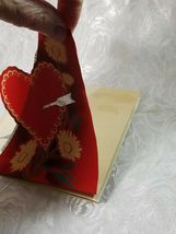 """OLD VINTAGE """"VALENTINE GREETINGS TO TEACHER"""" VALENTINE'S DAY CARD, GOOD COLOR! image 5"""