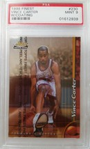 Vince Carter Psa Mint Nba 1998-99 Topps Finest 230 Rc Tronto Raptors - $592.48