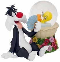 Lenox Tweety Bird Summer Sizzle Snowglobe & Sylvester Figurine Led Light... - $44.90