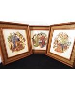 Three Framed Art Tiles 1960s Greenville South Carolina - $59.99