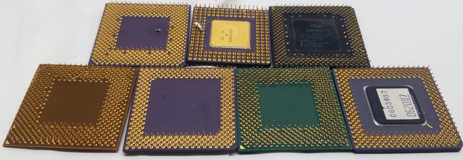 Gold Recovery and Scrap 486/Athlon/MMX/Pentium/K6/Ceramics/Other 7.65Lbs Bin:10