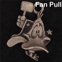FAN PULL Daffy Duck WARNER BROS Looney Tunes WB STORE Pewter 3D HEAD FIG... - $14.84