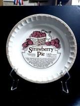 Vtg 1983 Royal China Country Harvest STRAWBERRY PIE Recipe Deep DISH Pie... - €12,85 EUR