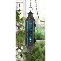 Sapphire Serenity Hanging Lantern - $11.75