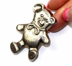 VINTAGE TEDDY BEAR TOY SHAPED PIN /BROOCH 925 STERLING 2.25 IN BB 53 - $29.99