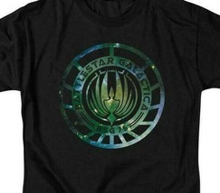 Battlestar Galactica Sci-fi TV series galaxy emblem adult graphic t-shirt BSG250 image 2