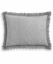 Martha Stewart Collection Crochet  Gray Standard Sham T410872 - $32.56