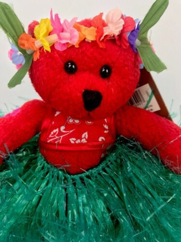 Primary image for Hawaiian Collectibles Passport Bearfoot Plush Bear w/ Tag & Passport Hula Lehua