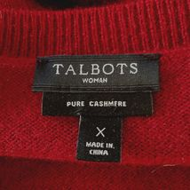 Talbots Pure Cashmere Women's X Crew Neck Sweater Deep Burgundy Wine C103 image 4