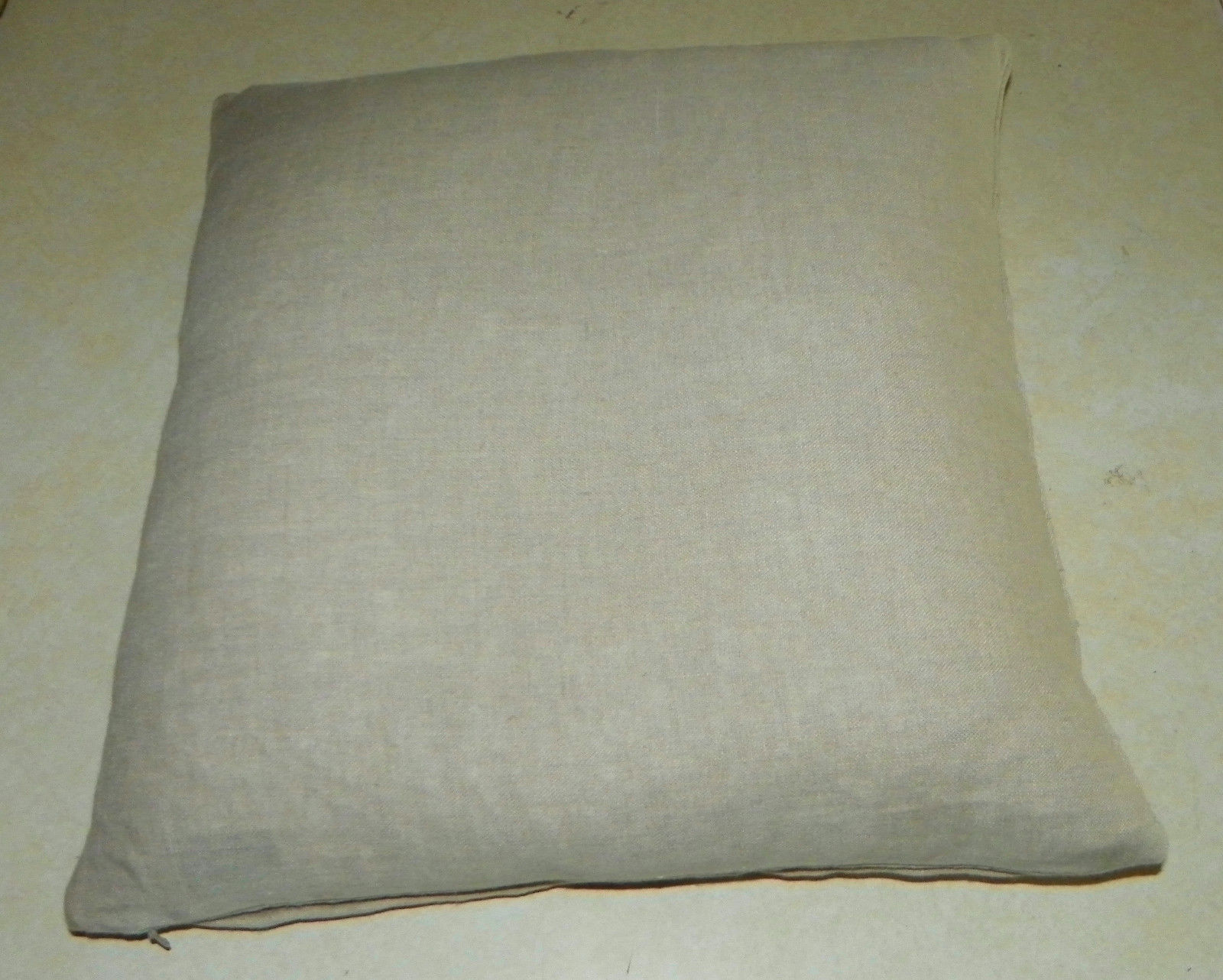 Beige Pleated Down Filled Decorative Throw Pillow  18 x 18